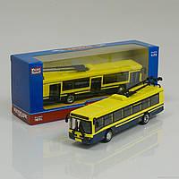 JT Троллейбус металлопластик 6407 D (96/4) открываются двери, инерция, в коробке