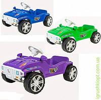 Машинка для катания педальная ОRioN- синяя.зелёная.сиреневая
