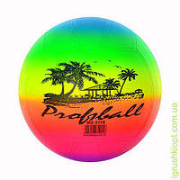 Мяч 8,5 дюймов, 250 грамм, радуга волейбол, в кульке