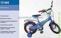 "Велосипед 2-х колес 16 "" Super Bike синий с красным"