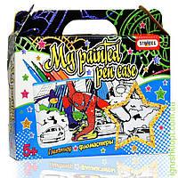 "Набор для творчества ""My painted pen case mini - Spider man"" (пенал, глиттер, фломастеры), ST"