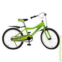 Велосипед PROFI детский 20д. зеленый, каретка америк, полная защита цепи, пласт