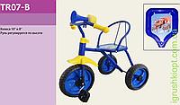 Велосипед 3-х колес TR07-B Синий, колеса 10'' и 8'', клаксон