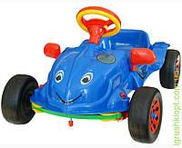 """Машина педальная """"Хэрби"""" 4 цвета (красная, синяя, зелёная, металик), музыкальный руль KW"""