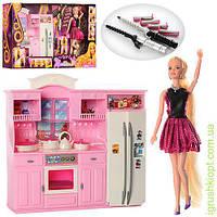 Мебель кухня 31-30см, кукла 29см, посуда, аксессуары, в кор-ке