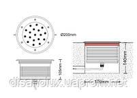 Cветильник грунтовый  UL-2401-A  40W asymmetric    размер:D200 * 105 мм IP 67 6000К, фото 2