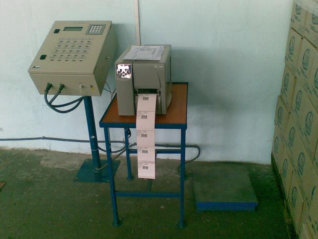 Платформенные весы, система маркировки и взвешивания, система учета