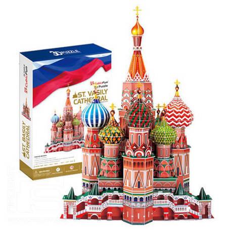 Пазлы 3D архитектура  Храм Василия Блаженного, фото 2