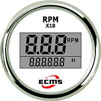 Цифровой тахометр со счетчиком моточасов ECMS (белый), фото 1
