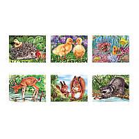Пазлы 54 эл., MINI Любимые животные, 32шт в блоке, 12 блоков в упаковке, 384 шт