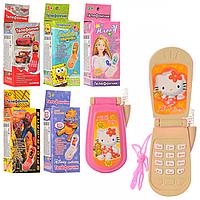Телефон M 0265 I U/R-1 (360 шт) мобильный, 6 видов, в коробке, 4,5-9см