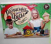 """Расписные конструктор Часы """"Домик"""", DankO toys"""