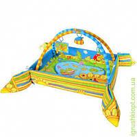 Мягкий коврик для новорожденных с бортиками