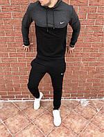 Мужскойспортивный костюм серый с черным