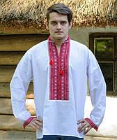 Вишиванка чоловіча з ручною вишивкою (різні варіанти) червоний 61c24bf48e5cf