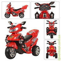 Мотоцикл мот12W, акк 6V/4,5A, 3км/ч, крас, в кор-ке