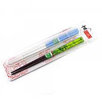 Палочки для еды бамбук (2 пары + футляр) (28,5х7,5х1,5 см)