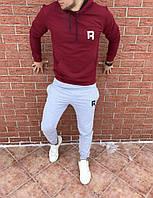 Мужскойспортивный костюм Бордовый с белым