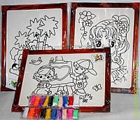 Www Набор для творчества, картина-раскраска в деревянной рамке, цв наполнитель