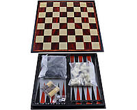 Набор 3в1 Нарды, Шахматы, Шашки (Магнитные, 35х35 см) №57710