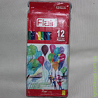 Карандаши 12 цветов 12 штук в упаковке FLAIR