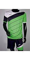 Футбольная форма Europaw 008 зелено-т.синяя