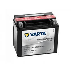 Практичний акумулятор для мотоциклів і скутерів 10AH-12V VARTA FS AGM (YTX12-4, YTX12-BS), (152X88X131