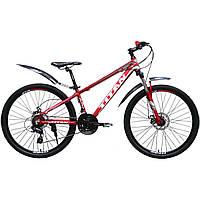 Горный велосипед TITAN Flash 27.5″ (черно-бело-красный)