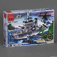 """BRICK 820 """"Военный корабль"""" (18) 614 дет, в коробке СОБРАННЫЙ"""