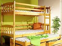 """Кровать двухярусная детская-чердак """"Трио"""""""