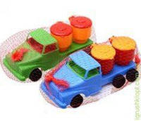 Машина Денни классик самосвал с бочонками, BAMSIC
