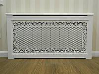 Решетки на батареи отопления, декоративные экраны (короб) R55-F60 белый с комплектом для монтажа, фото 1