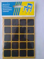 Войлочные подкладки для деревянной мебели, толщина 2 мм, самоклеящиеся (чёрные).