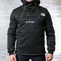 "Куртка анорак мужской ""THE NORTH FACE "" на флисе"