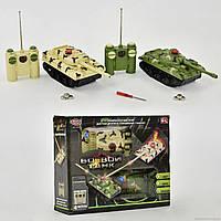 Танковый бой 9672 (36/2) р/у, свет, звук, на батарейках, в коробке