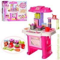 Кухня 43-30-63см, плита, зв, св, духовка, мойка, посуда, продукт, 16 предм, на бат, кор