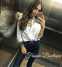Женская рубашка 2 кармашка