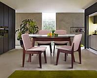 Стол обеденный Эльба TG6857GBH 1500х900х750 орех светлый/cтекло прозрачное