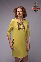Жіноче плаття Гірчичне, фото 1