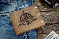 Мужской кожаный кошелек ТатуНаКоже, Wanderlust, фото 1