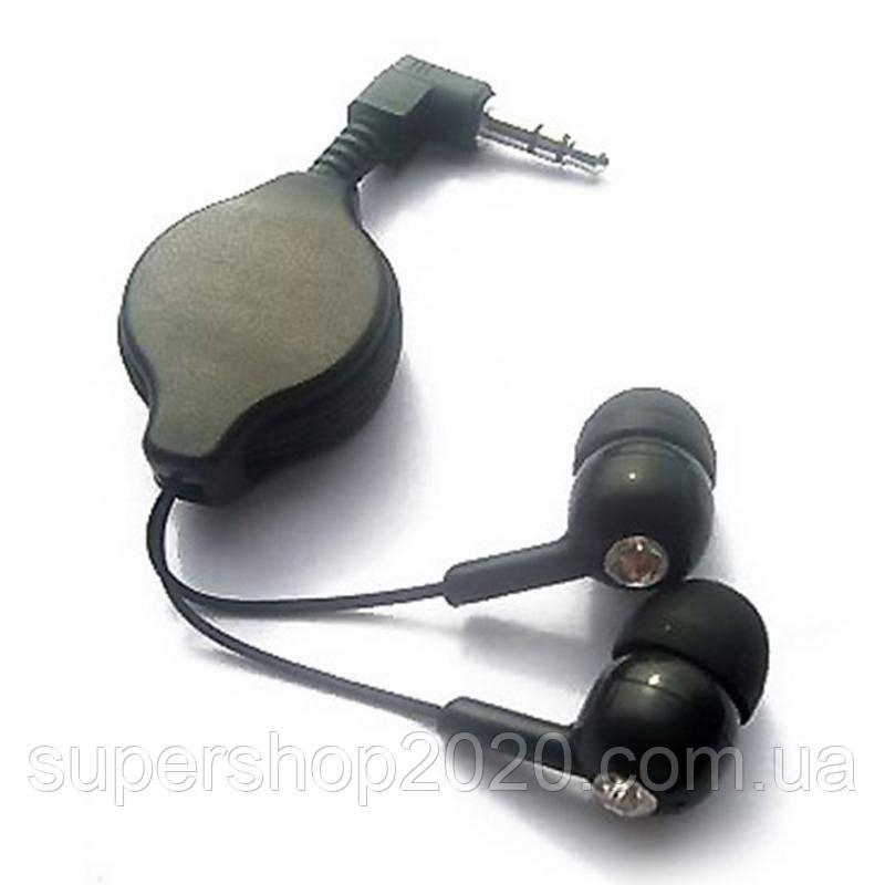 Навушники з прибирається кабелем, зі стразиками