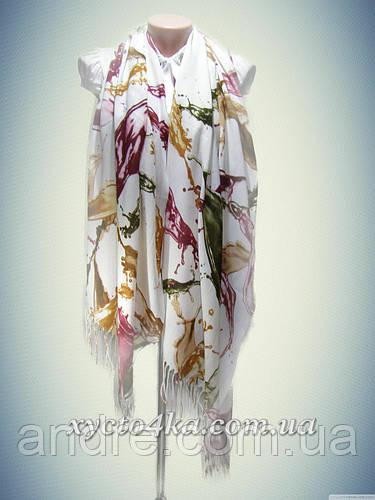 Кашемировые палантины Краски, белый