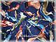 Кашемировые палантины Краски, тёмно синий, фото 5