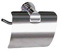 Держатель для туалетной бумаги с крышкой Aqualine ( хром )