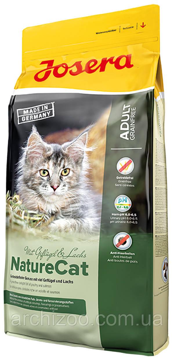 Акция Корм Josera йозера NatureCat натюркет 10 кг корм для кошек с чувствительным пищеварением беззерновой