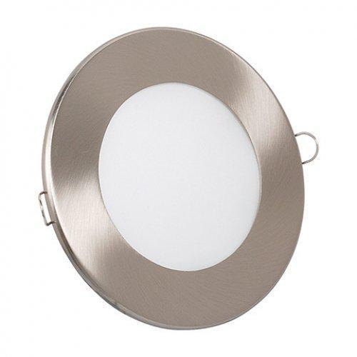 Светодиодный светильник Horoz (HL687L) 6W 3000K круг. мат.хром (потолочный) с трансформат. Код.56826