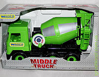 АвтоMiddle truck бетономешалка зеленая в коробке, Wader