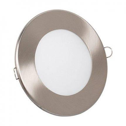 Светодиодный светильник Horoz (HL687L) 6W 6000K круг. мат.хром (потолочный) с трансформат. Код.56865, фото 2