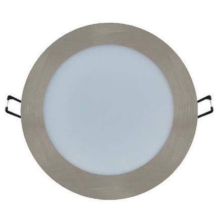Светодиодный светильник Horoz (HL688L) 12W 3000K круг. мат.хром (потолочный)  Код.56827, фото 2