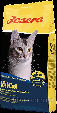 Акция Корм Josera йозера JosiCat Йозикэт 10 кг корм для взрослых кошек с уткой и рыбой, фото 2